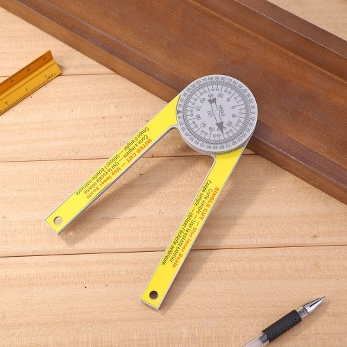 Plastic Pusher Miter Saw Protractor Gage Scale Digital Protractor Level DIY 3D Miter Saw Building Angle Ruler