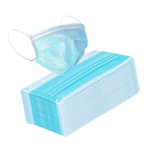 50 Pack Surgical Disposable Face Masks with Elastic Ear Loop