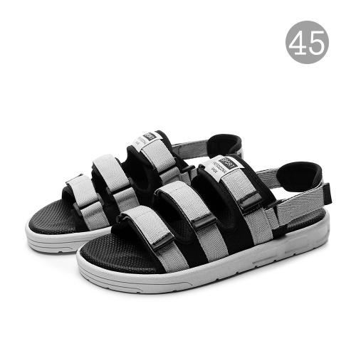 Sandalias de goma antideslizantes Zapatos unisex con diseño de punta abierta Zapatos cómodos de plantilla plana para viajar Senderismo Mar Playa Camping
