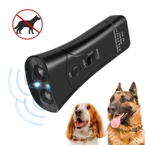 Dual-head Portable Handheld Ultrasonic Pet Dog Repeller Control Training Device Trainer