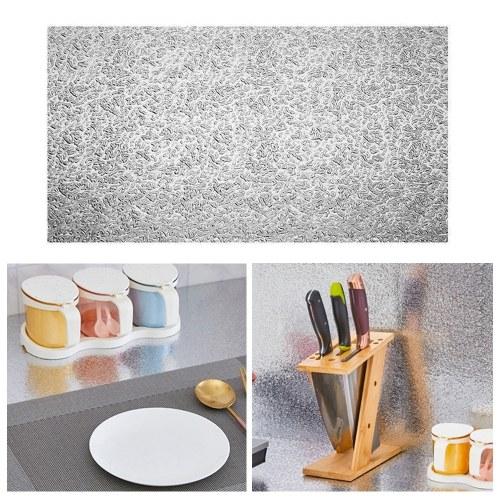 Kitchen Backsplash Wallpaper Stickers Kitchen Stickers Self Adhesive Kitchen Aluminum Foil Stickers Oil Proof Waterproof