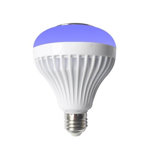 Bulbo sem fio BT E27 com controle remoto lâmpada inteligente