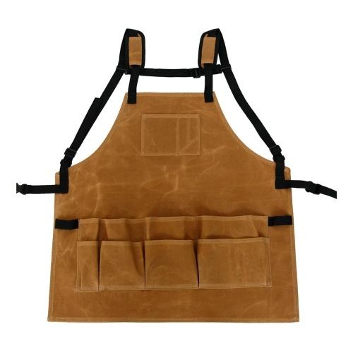 Delantal de herramientas de jardín Delantal de cintura ajustable
