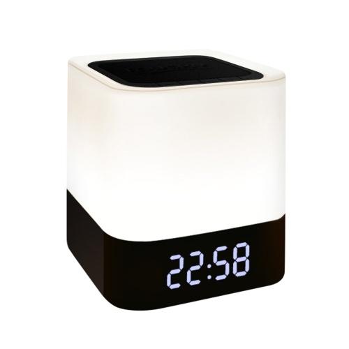 Reloj despertador digital con altavoz de luz nocturna