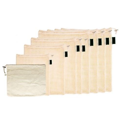 Paquete de 9 bolsas de productos agrícolas reutilizables