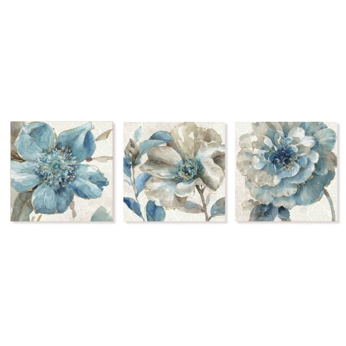 3PCS Flower Wall Decors with Assembled Frame