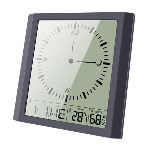 Современные простые квадратные часы для измерения температуры и влажности