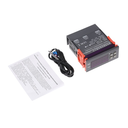 Temperature Controller, KKmoon Digital Temperature Controller Thermocouple with Sensor (-58~194°F) 10A 110V
