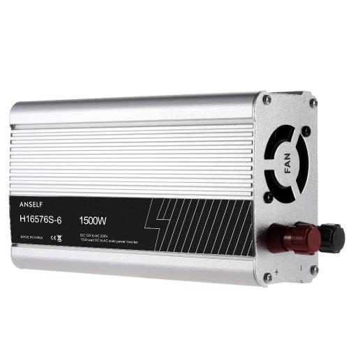 1500W DC12V до AC220-240V AC Преобразователь инвертора солнечной энергии переменного тока Модифицированная форма волны синуса