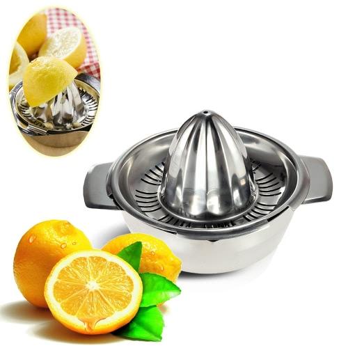 Professionelle Küche Edelstahl manuelle Zitruspresse Lemon Squeezer Baby Juicer für Limon Limone und Orange Fruchtsaft Squash mit Schüssel Entsafter