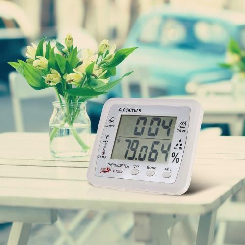 2016 New Multi-function Indoor Electronic Temperature Meter Digital Calendar Digital Clock Hygrometer Thermometer Weather Time Alarm Clock