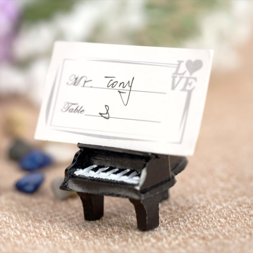 8pcs Lovely Mini Piano Place Card Holders Table Mark Cards for Wedding Banquet Decoration