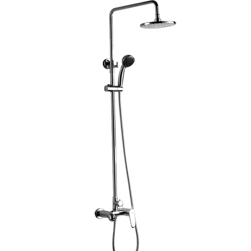 Homgeek High-quality Hand-Held Shower Panel Mixer Head Set Wall-mounted Water-saving Home Bathroom Rainfall Sprayer Chrome Finish Hotel