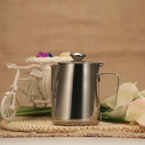 Hohe Qualität Europäische Edelstahlkaltwassertopf Eistee Krug Kessel Wasser-Krug mit Deckel und Auslauf Küchenwerkzeug Küchen