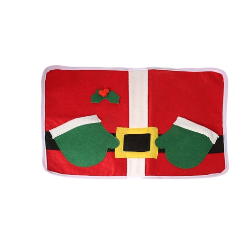 Festnight Christmas Placemat High Quality Double Layer Soft Dining Table Mat Christmas Decoration