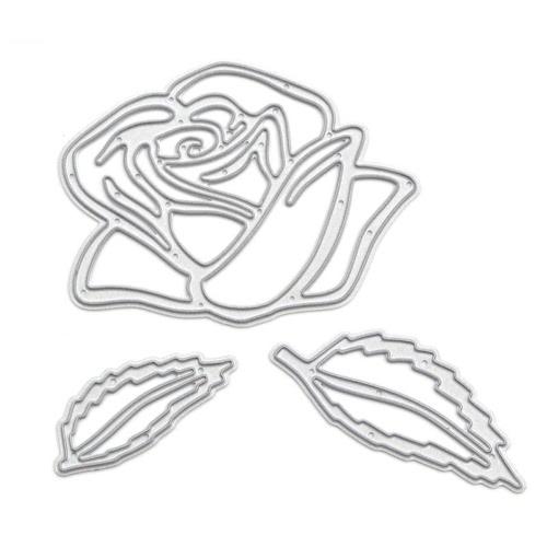 Metal Rose Flower Carbon Steel Template Embossing Cutting Dies Stencil Scrapbooking Decorative DIY Craft Paper Card