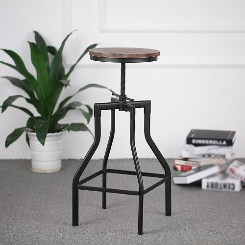 IKayaa Altezza regolabile girevole sedia a sdraio per cucina