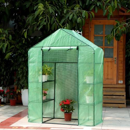 IKayaa Outdoor Garden 3 strati Mini Walk In Greenhouse