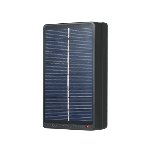 2*AA/AAA Rechargeable Batteries Charger Solar Powered Charger 1W 4V Solar Panel for Battery Charging