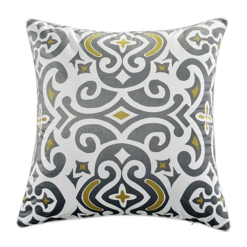 """18 """"* 18"""" Flower Totem Pattern Throw Pillow Case Housse de coussin douce bien soignée Housse de chaise de sofa Housse d'oreiller décoratif décoratif 45 * 45cm Coussin d'oreiller avec fermeture à glissière cachée"""