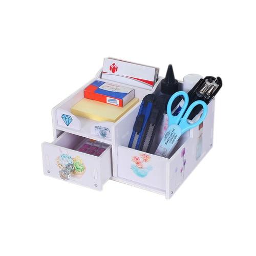 Escritorio Escritorio Multi-Propósito DIY Caja De Almacenamiento Resistente Al Agua Lápiz Porta-lápiz Cosméticos Maquillaje Organizador Caja Contenedor