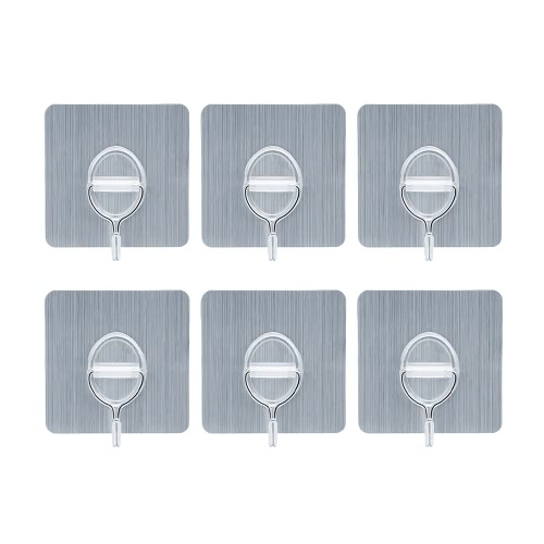 4pcs 11lb/5kg(Max) Reusable Removable Wall Hooks No Scratch Towel Hook Waterproof and Oilproof Bathroom Kitchen Hanging Rack