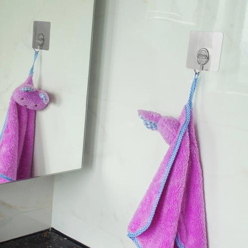 4шт 11lb / 5kg (Макс.) Многоразовые съемные настенные крючки Нет царапины для полотенца с водонепроницаемыми и масляными ваннами для кухни