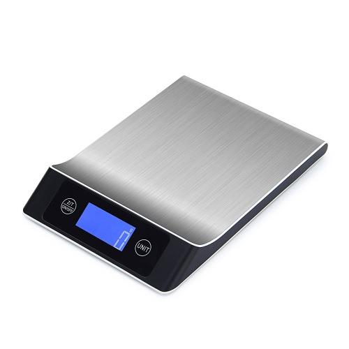 5kg / 1g Escala de cocina digital exacta Escala de cocina de control táctil con pantalla LCD Escala multifuncional
