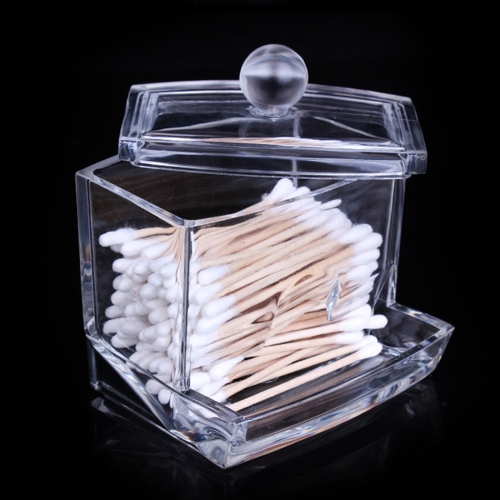 New Acrylic Cotton Swabs Storage Holder Box Transparente Makeup Case Cosmetic Container