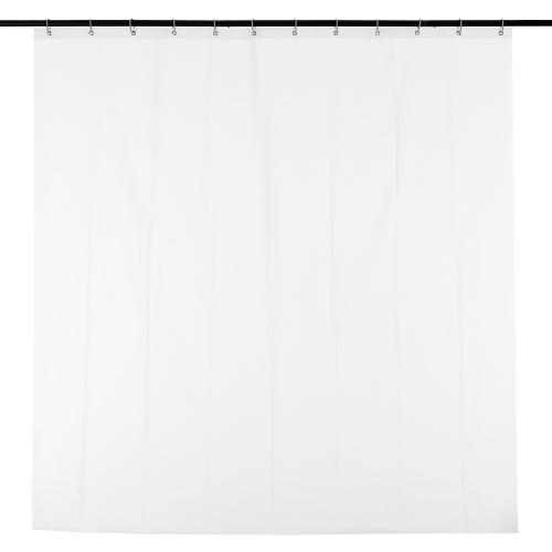 Htovila 72 * 72 '' blanco PEVA impermeable cortina de la ducha a prueba de humedad cortina de privacidad del hotel de la casero cortina de baño con 12pcs ganchos