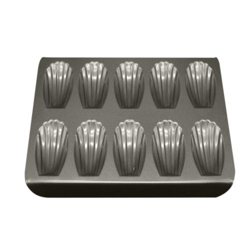 Seashell Form Backen Kuchen Kohlenstoffstahl Pfanne DIY Metallische Form Professionelle 10-Cup Non-Stick Madeleine Mold Kochgeschirr Metall Tassen