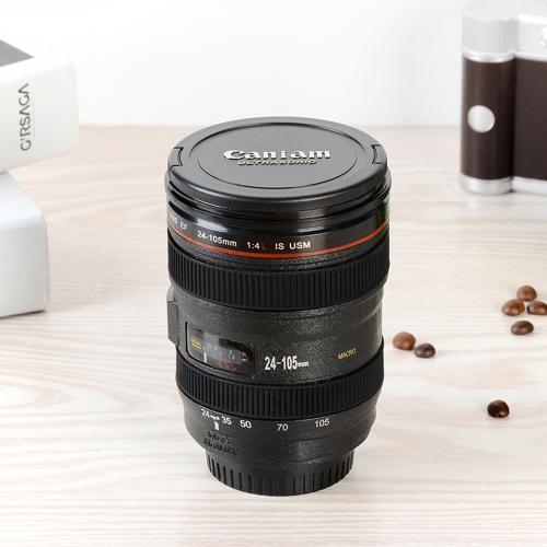 400ml Plastic Camera Lens Plastic Travel Coffee Tea Mug Cups