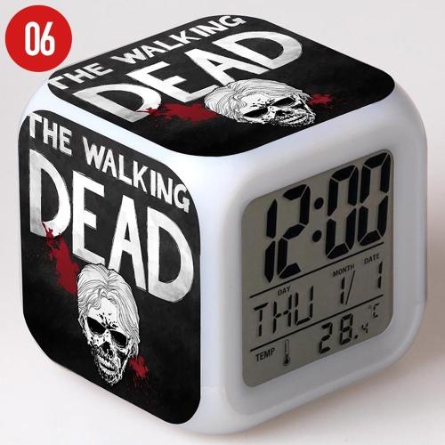 Walking of Dead Colorful Multi-Function Date Week Температура LED Светящийся цифровой будильник Cube Cute Toys