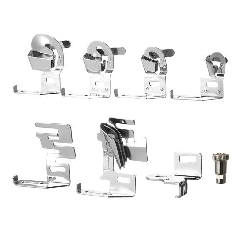 7 unids / set doméstica dobladillo del prensatelas del pie Presser Set de herramientas de máquina de coser para Brother Feiyue Singer
