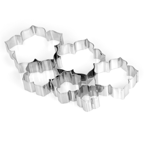 6pcs Morning Glory Cookie Cutters Stainless Steel Fondant Cutter Biscuit Cutters Sandwich Cutters Petunias Cookie Cutter Set
