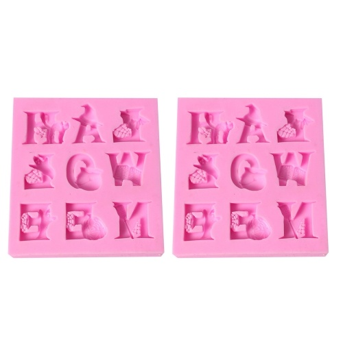 Cake Cute Letter Handmade DIY Mold Chocolate Fondant Decorating Tool Силиконовая выпечка Sugarcraft Gumpaste Molds