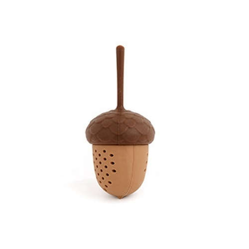 Нетоксичный силиконовый паштет с ореховой чашкой Чайный мешок Stainer Squirrel Acorn Shape Tea Infuser Loose Herbal Filter Spice Diffuser