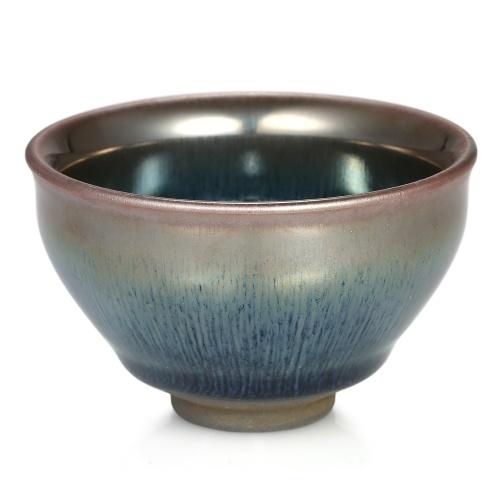 Винтажный стиль Глазурь Teaware Jianzhan Tea Cup Mini Tea Bowl Hare's Fur Temmoku Tea Cup Китайский чайный чай Kungfu Китайский народный художественный промысел Chawan с китайского