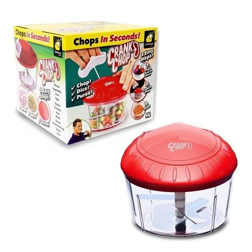 CRANK CHOP Многофункциональный ручной измельчитель Vegetale Fruit Processor Мясорубка