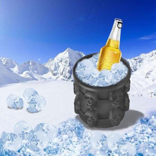 Genie Silicone Cool Skull Ice Bucket Сохранение кубика льда (4.33 * 3.93 * 3.93in)