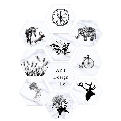 10 Pcs/Set Self-adhesive Floor Sticker