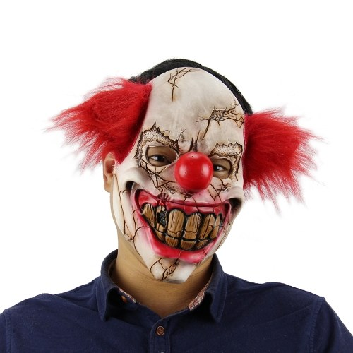 Latex Full Face Scary Toothy Clown Maska Horror Creepy Cosplay Maska z elastycznym pasem