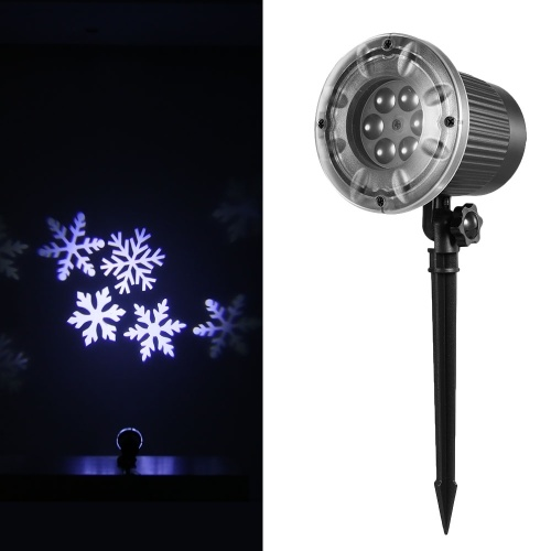 Proiettore a luce bianca a proiezione Proiettore a LED con proiettore a fiocco di neve