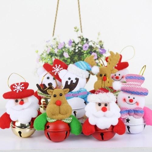Рождественская кукла Колокольчики Елочные украшения Висячие подвесные украшения Колокольчики Дед Мороз / Снеговик / Медведь / Лось (в произвольном стиле)
