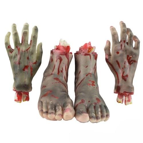 Halloween-Horror-Requisiten Fake Human Arm Hands Bloody Scary