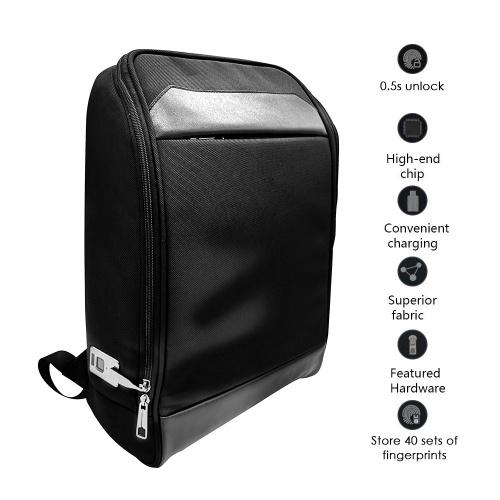 40 Sets Fingerprints 2 Administrators Anti-Theft Fingerprint Lock Laptop Backpack