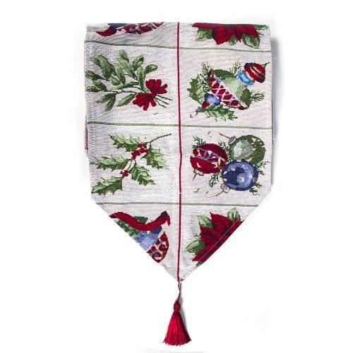 Weihnachten bestickt Tischläufer für Weihnachtsfeier Esstisch Dekorationen