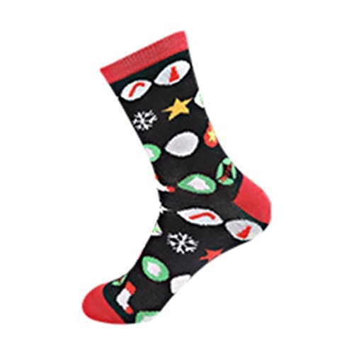 Christmas Cotton Socks Santa Snowman Snowflake Sock for Mens and Women