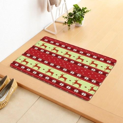 Christmas Style Carpet Door Mat Floor Rug Non-slip Mat Merry Christmas Home Decoration Doormat