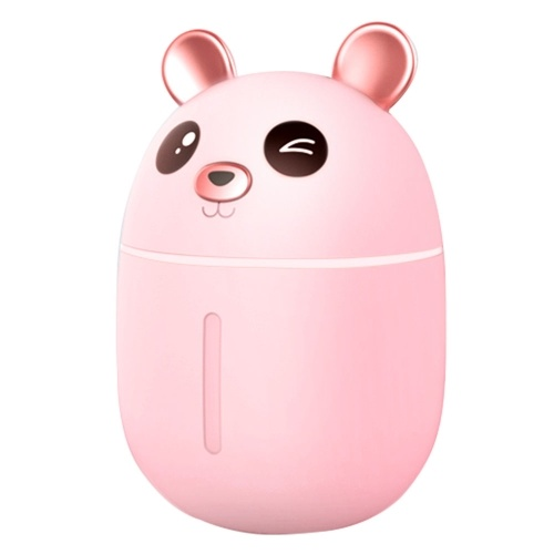 USB Air Humidifier for Large Bedroom and Baby Whisper Quiet  Auto Shut-Off Bear Pink